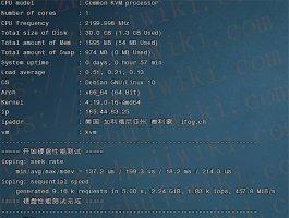 iFog 2GB内存 1Gbps带宽 佛利蒙KVM VPS测评
